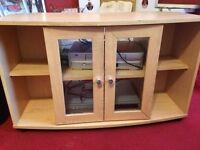 Pine effect TV cabinet