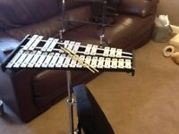 Glockenspiel with case and stand