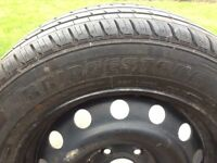 Wheel rim and tyre for van bargain at £5