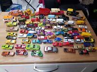 Collection of Vintage and Modern Corgi, Hotwheels, Matchbox diecast cars etc