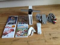 Nintendo Wii with games and controller and nunchuck