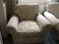 2 matching armchairs
