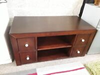 Solid mahogany unit with drawers Copley Mill LOW COST MOVES 2nd Hand Furniture STALYBRIDGE SK15 3DN