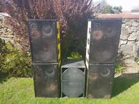 epsilon pa speakers and amp