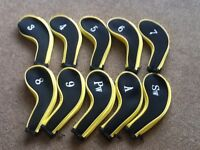 Brand new10 zipped iron head covers 3 4 5 6 7 8 9 aw pw sw