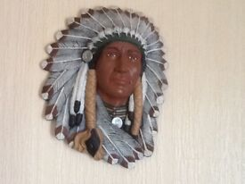 Indian head wall plaque