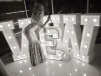 £100 Giant light up letters, for wedding and birthdays