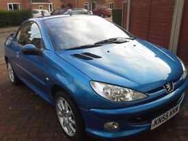 For Sale my lovely peugeot 206 cc 1.6 2005 reg 1, 200 ono