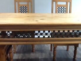 Wooden dinning table & 6 chairs