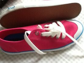 Polo Ralph Lauren pink trainers