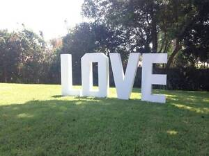 1.2m 3D Love Letters $50 per letter Stunning Wedding Centrepiece Castle Hill The Hills District Preview
