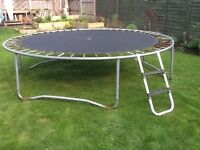 10ft trampoline with safety net and poles
