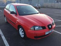 2003 Seat Ibiza 1.2 red 3 door hatchback