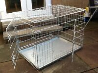 Large foldable dog crate