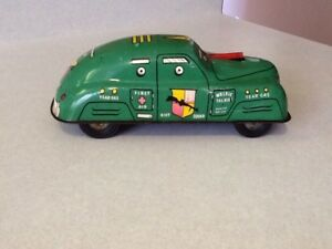 RARE 1940 FBI RIOT SQUAD TIN FRICTION CAR