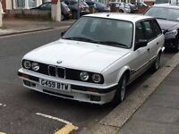 BMW E30 1990 M52 CONVERTED TOURING WHITE. E21,E28,E36 DRIFT,M TECH URGENT SALE!!