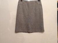 Ladies skirt by Laura Ashley, size 14, EUR 40, colour black/white