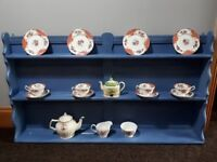 Shabby Chic Wall Mountable Dresser Top/Plate Rack