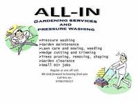 Gardening and pressure washing