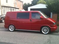 """Alloys VW Transporter T4 BBS LM Style Alloy wheels 18"""" set of 4 inc BBS centre caps brand new in box"""