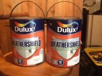2x 5ltr Dulux smooth masonry paint for outside walls