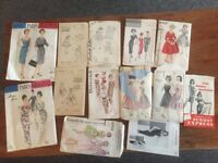 Vintage sewing patterns collection