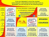 SPANISH 15 WEEK COURSES - Beginners to Advanced