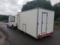 trailer L13ft w 7ft 5inch standing hight 7 ft decontamination trailer or convert