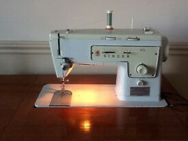 Singer 413 Electric Sewing Machine fitted into a table