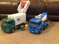 Garbage Lorry and cement mixer