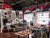 DOUBLE BEDROOMS IN CREATIVE WAREHOUSE/STUDIO