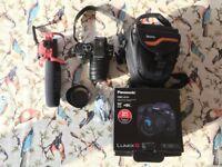 Panasonic Lumix DMC G7H 14-140mm 4K DSLR Camera With Rode Mic and Carry Case