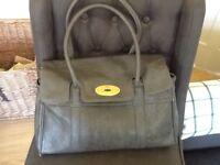 Mulberry inspired handbag - grey Bayswater style