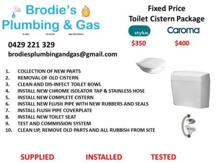 Fixed Price Toilet Cistern Replacement West Perth Perth City Preview