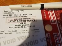 TICKET for Jay Z and Beyoncé in Manchester @Etihad Stadium