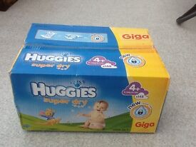 HUGGIES NAPPIES Size 4+ Box of 144