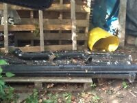 Cast Iron gutters, stop ends and down pipes