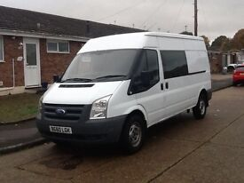2011 60 REG FORD TRANSIT T350 LWB SEMI HIGH TOP CREW VAN - IVECO SPRINTER CRAFTER
