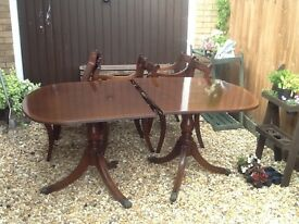 Thomas Glenister table and 6 chairs