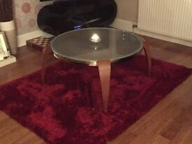 REDUCED - Round Glass Top coffee table
