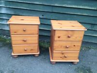 Pair of modern bedside units