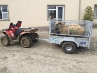 GALVANISED QUAD TRAILER MESHSIDE RAMP SHEEP DIVIDER AND LOADING GATE SUZUKI HONDA YAMAHA TRACTOR ATV