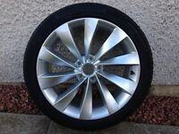 "Genuine VW Scirocco/Passat 18"" Interlagos Wheel + Continental Tyre"