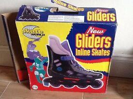 Kiddies inline skates size 2