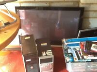 Plasma Tv and desktops with screens for sale joblot for a good price