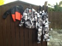 Hunter 2 piece motorcycle motorbike suit - size xsmall adult - £50 ono