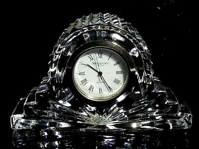 WATERFORD CRYSTAL WATCH CLOCK TABLE TOP PAPERWEIGHT MADE IN IRELAND