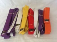 Karate belts assorted colours