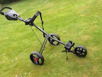 Caddy car - masters 5 series, 3 wheel push trolley