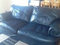 Leather Three, Two, One suite with storage footstool